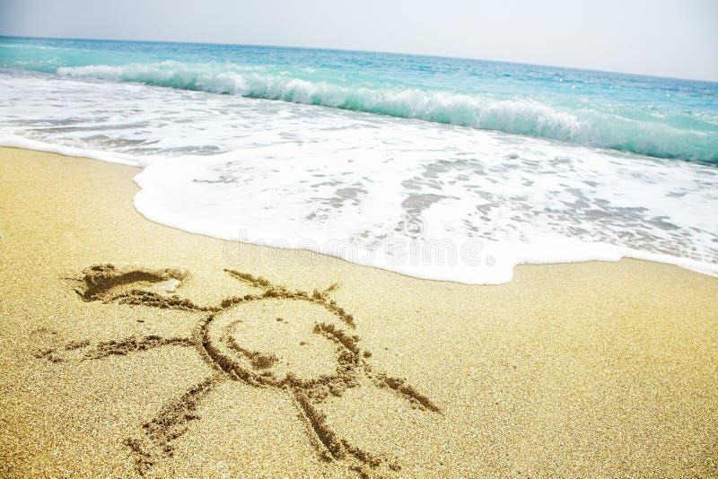 Het strand van Sanny royalty-vrije stock foto