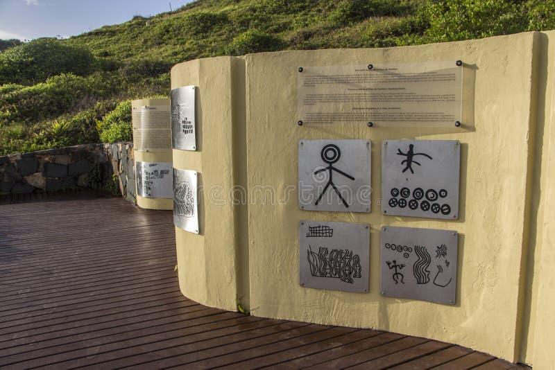 Het Strand van Santinho - Florianópolis/SC - Brazilië stock fotografie