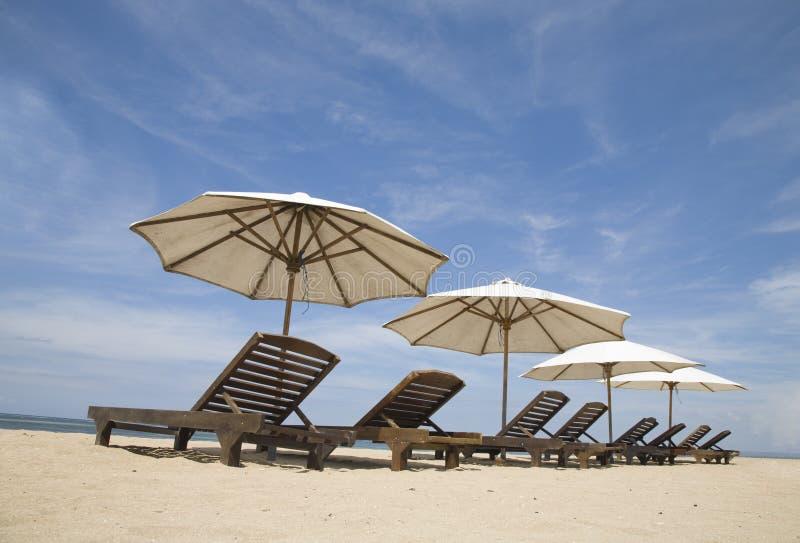 Het strand van Sanur stock foto