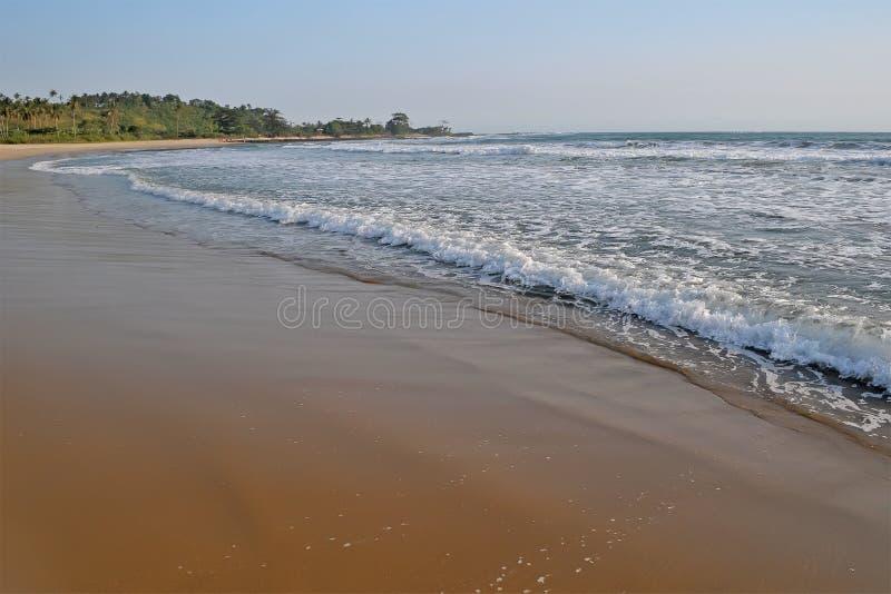 Het strand van Sawarna royalty-vrije stock foto