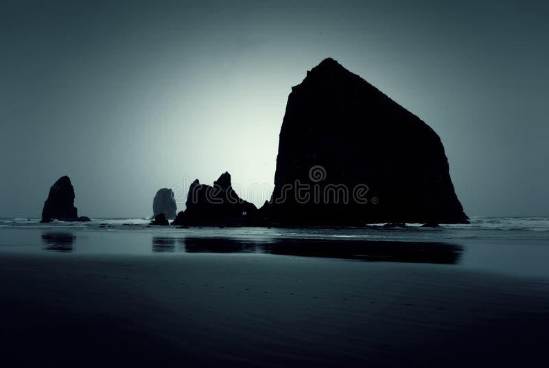 Het Strand van het schemeringkanon stock foto