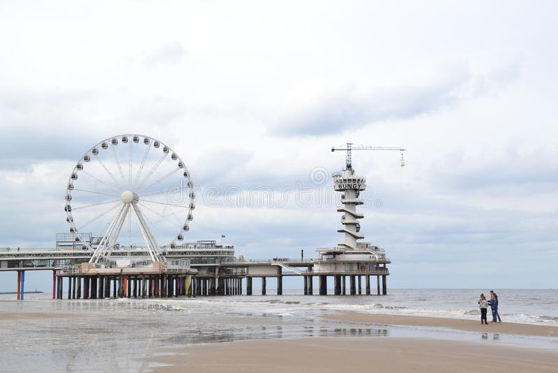 Het Strand van Scheveningen stock foto