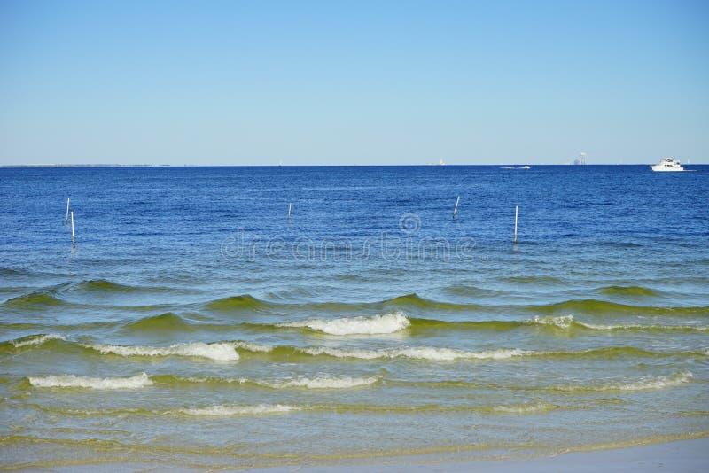 Het strand van St. Petersburg stock foto