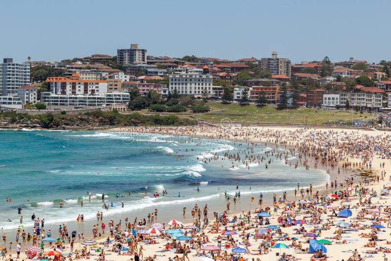 Het Strand van Sydney ` s Bondi stock foto