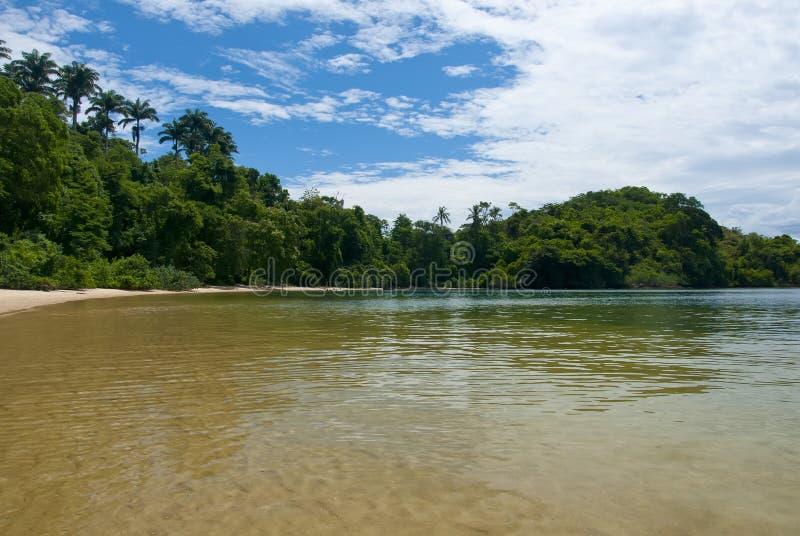 Het Strand van Tangua stock afbeelding