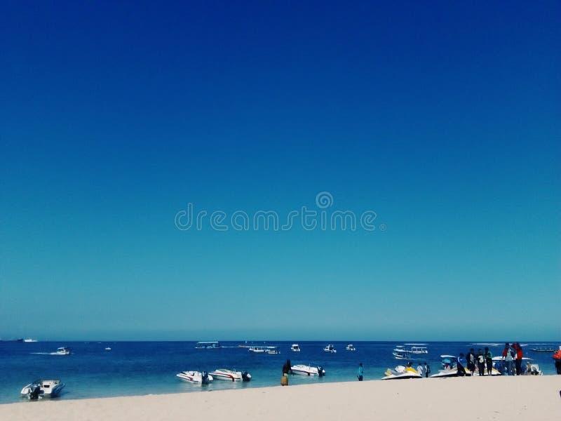 Het strand van Tanjungbenoa stock afbeeldingen