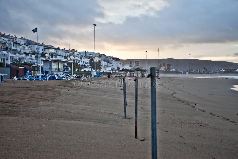 Het strand van Tenerife stock afbeelding