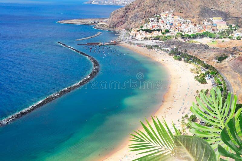 Het Strand van Teresitas van Las, Tenerife stock fotografie