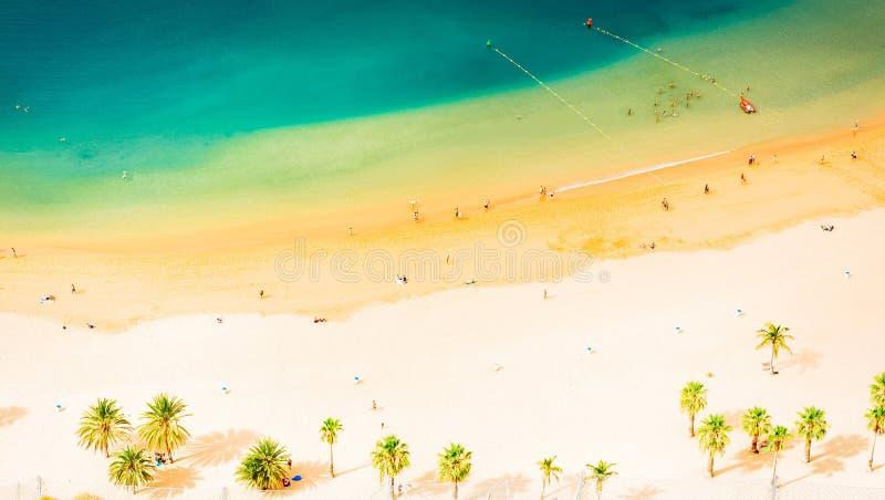 Het Strand van Teresitas van Las, Tenerife royalty-vrije stock afbeelding