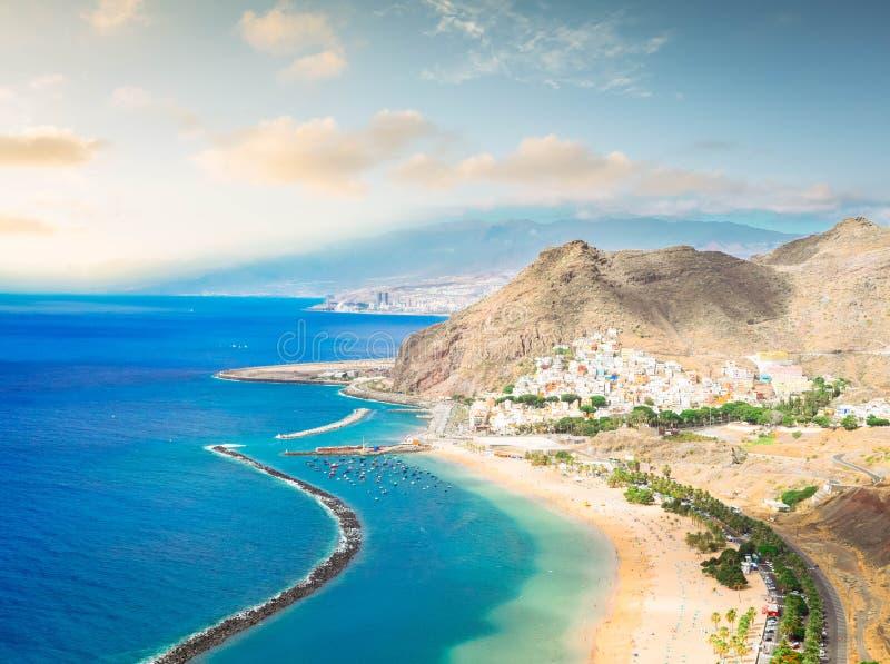 Het Strand van Teresitas van Las, Tenerife stock foto