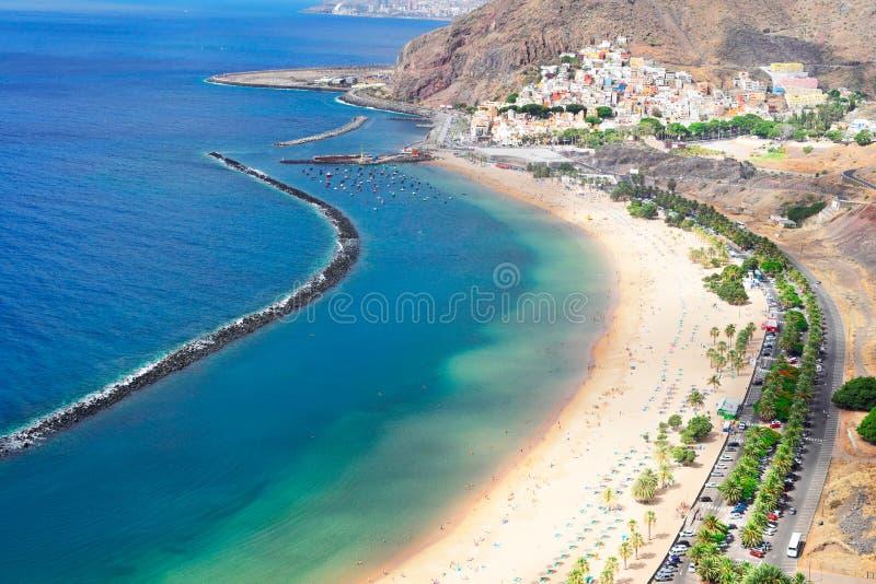 Het Strand van Teresitas van Las, Tenerife stock afbeeldingen