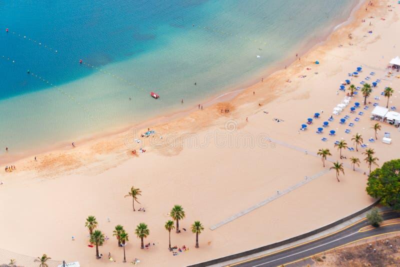 Het Strand van Teresitas van Las, Tenerife royalty-vrije stock fotografie