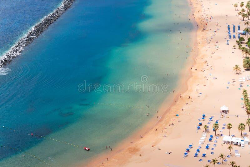 Het Strand van Teresitas van Las, Tenerife royalty-vrije stock foto's