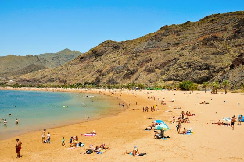 Het Strand van Teresitas in Tenerife, Canarische Eilanden, Spanje stock foto