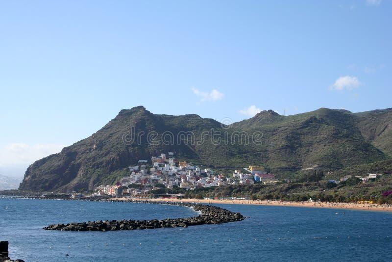 Het strand van Teresitas van Tenerife stock afbeelding