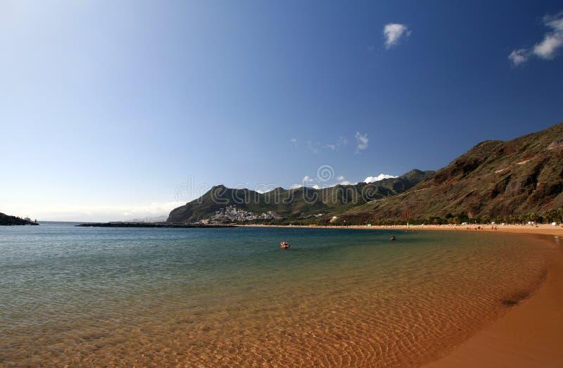 Het strand van Teresitas van Tenerife royalty-vrije stock afbeelding