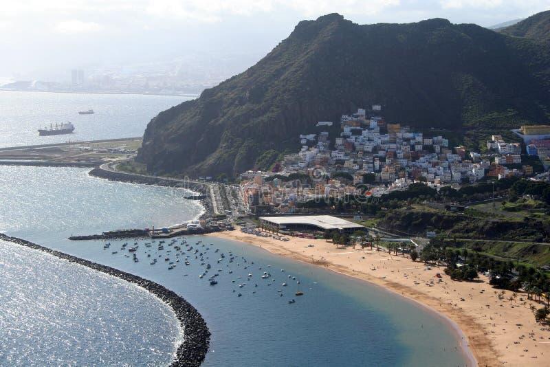 Het strand van Teresitas van Tenerife royalty-vrije stock fotografie