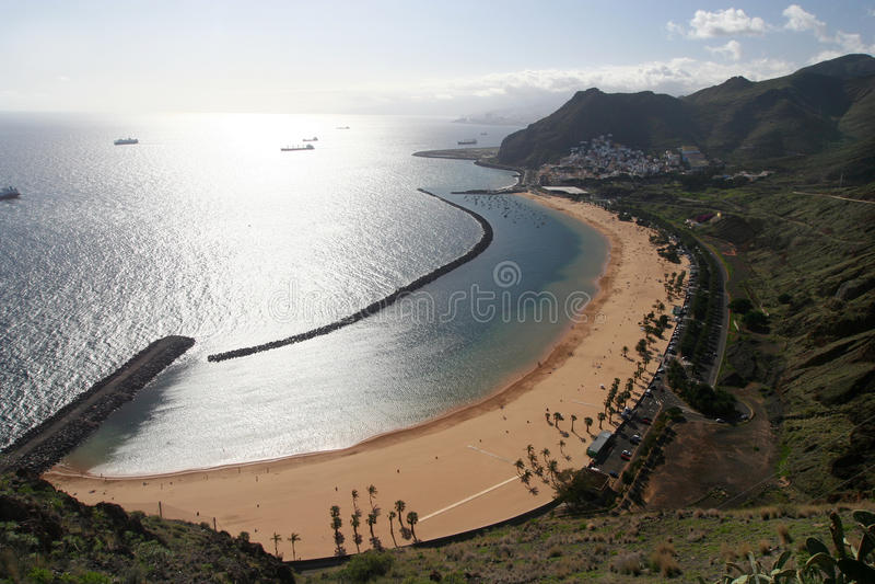 Het strand van Teresitas van Tenerife royalty-vrije stock foto