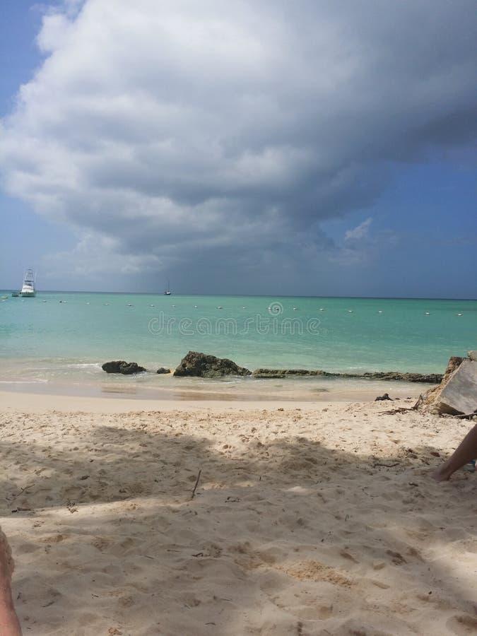 Het strand van Tobago stock afbeelding