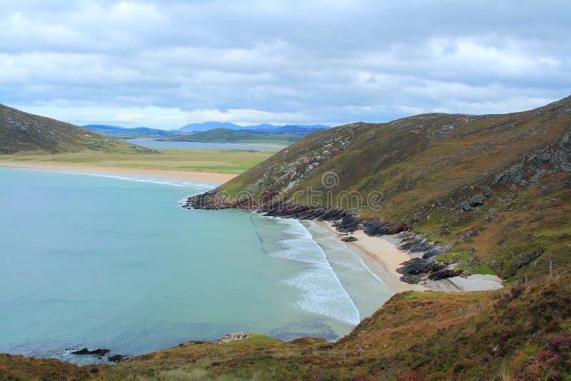Het strand van Trana Rossan, Co Donegal, Ierland stock foto