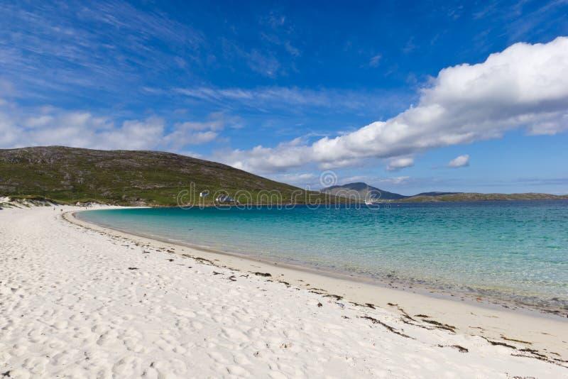 Het strand van Vatersay stock foto