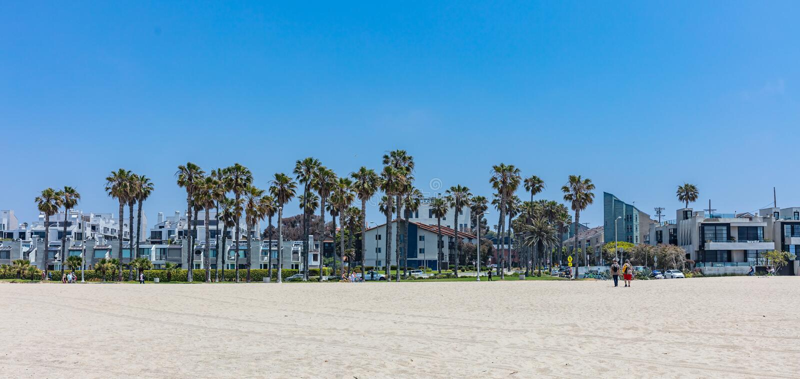Het strand van Venetië in een zonnige de lentedag, de V.S. royalty-vrije stock afbeeldingen