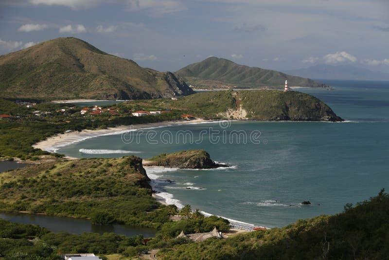 HET STRAND VAN VENEZUELA ISLA MARGATITA PEDRO GONZALEZ VAN ZUID-AMERIKA royalty-vrije stock afbeelding