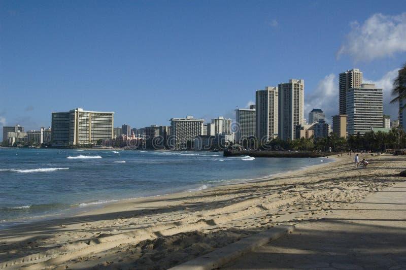 Het Strand van Waikiki royalty-vrije stock afbeeldingen