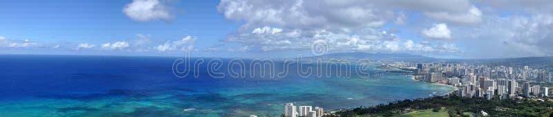 Het Strand van Waikiki, Honolulu, Hawaï stock foto's