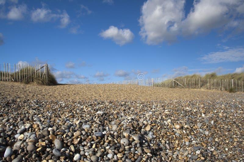 Het Strand van Walberswick, Suffolk, Engeland stock foto's