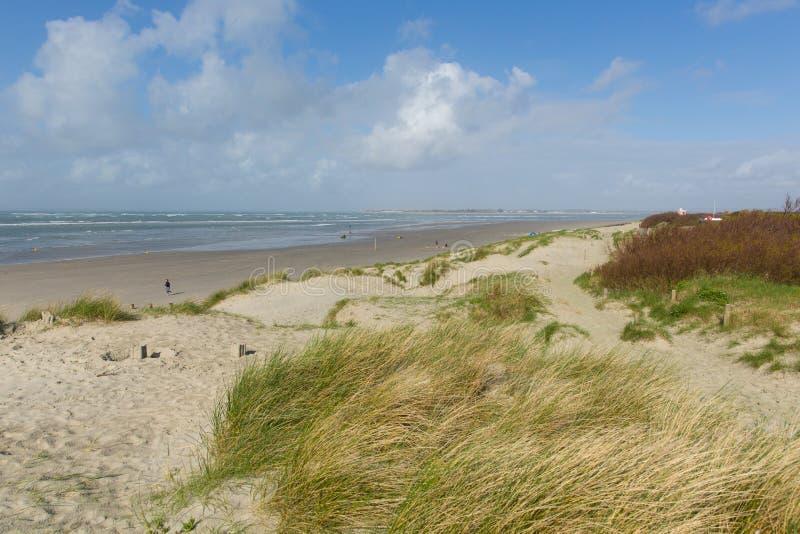 Het strand van het westenwittering dichtbij van West- Chichester Sussex Engeland het UK stock foto