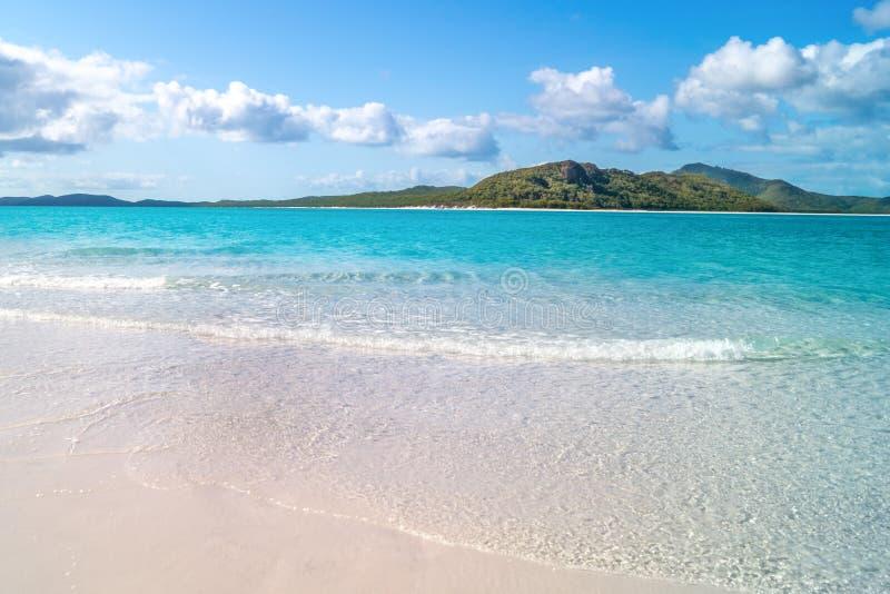 Het strand van Whitehaven royalty-vrije stock afbeelding