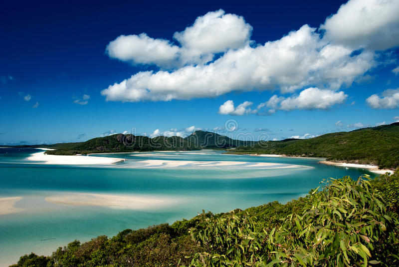 Het Strand van Whitehaven, Australië stock fotografie