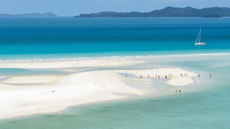 Het Strand van Whitehaven, Australië stock foto