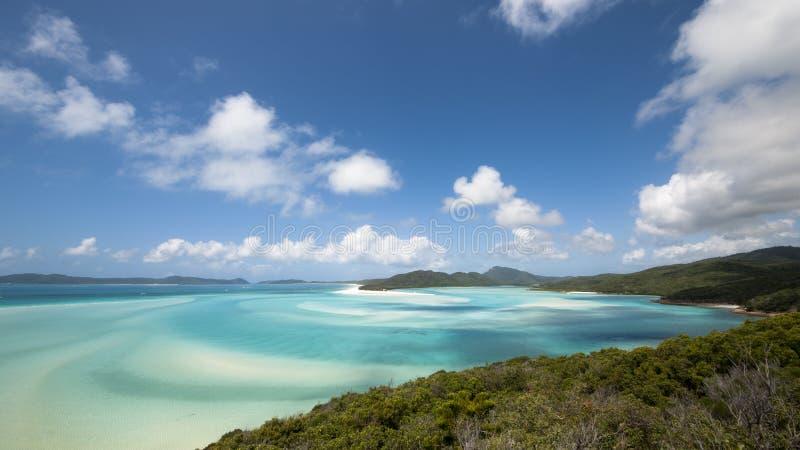 Het Strand van Whitehaven, Australië stock afbeelding