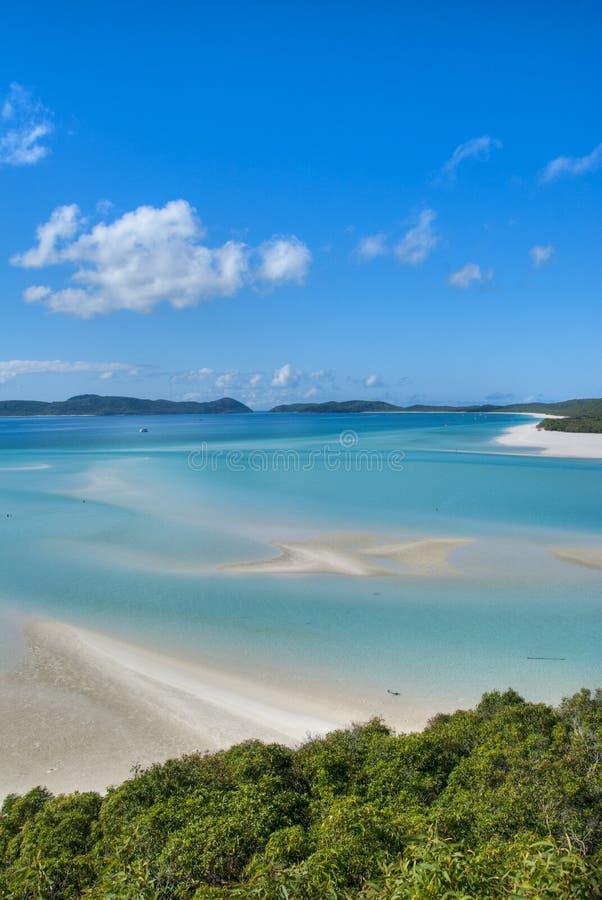 Het Strand van Whitehaven, Queensland, Australië stock foto's