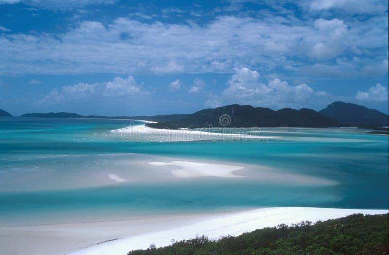 Het strand van Whiteheaven stock foto's
