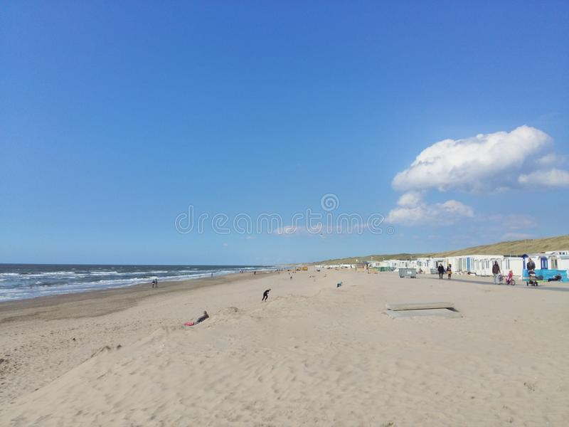 Het strand van Wijk aan Zee nederland royalty-vrije stock fotografie