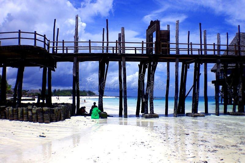 Het Strand van Zanzibar royalty-vrije stock foto