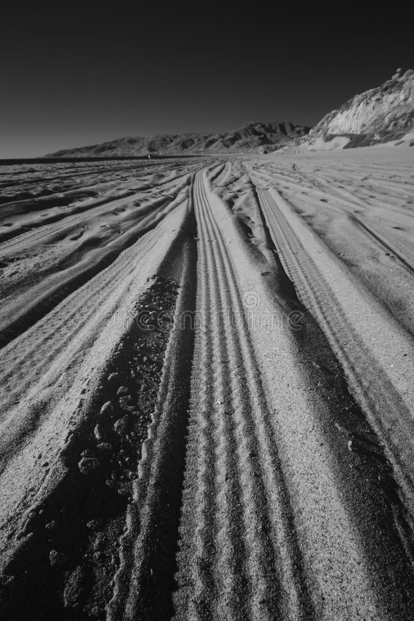 Het strand volgt Infrared 2 stock foto's