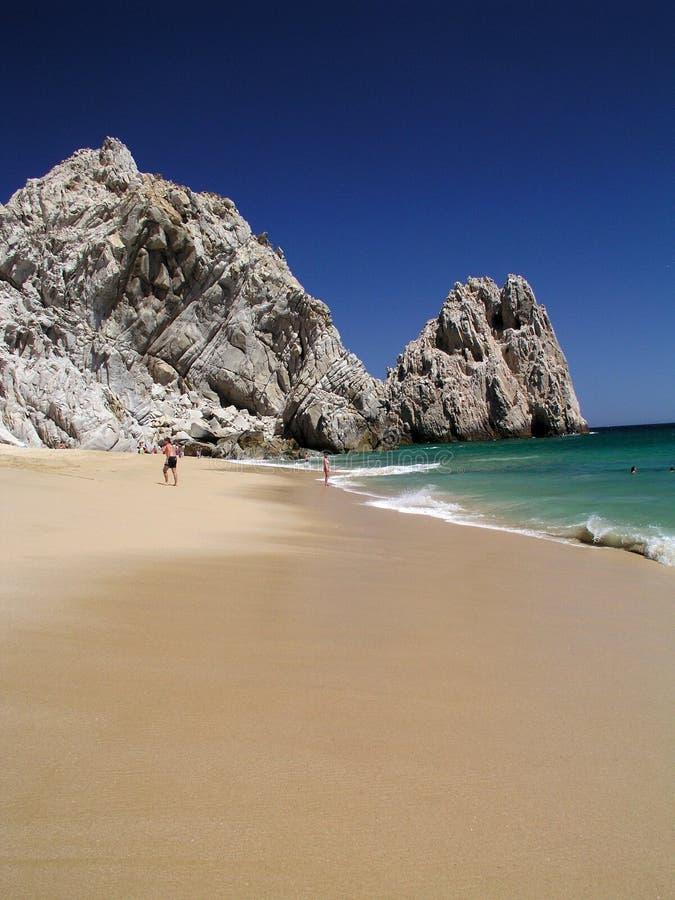 Het Strand Vreedzame Cabo van de minnaar stock afbeelding