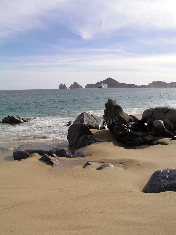 Het Strand Vreedzame Cabo van de minnaar stock foto's