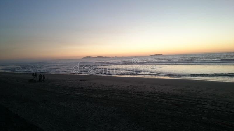 Het strandgrens van Tijuanamã©xico royalty-vrije stock fotografie