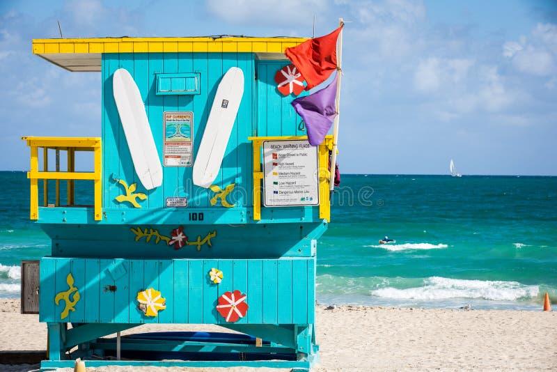 Het Strandhuis van Miami royalty-vrije stock foto's