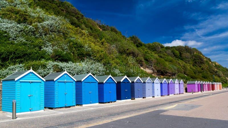 Het Strandhutten van Bournemouth stock afbeeldingen