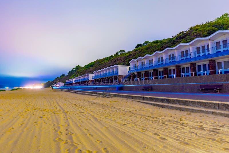 Het Strandhutten van Bournemouth royalty-vrije stock afbeelding