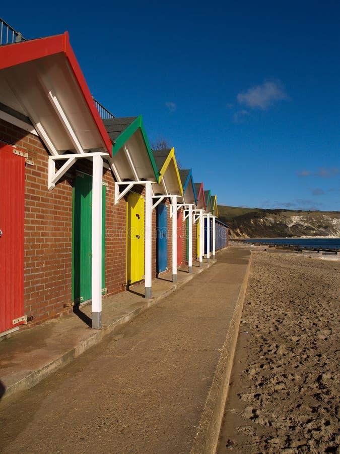 Het Strandhutten van Swansea royalty-vrije stock fotografie