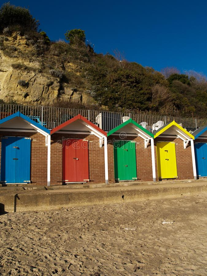 Het Strandhutten van Swansea stock afbeeldingen