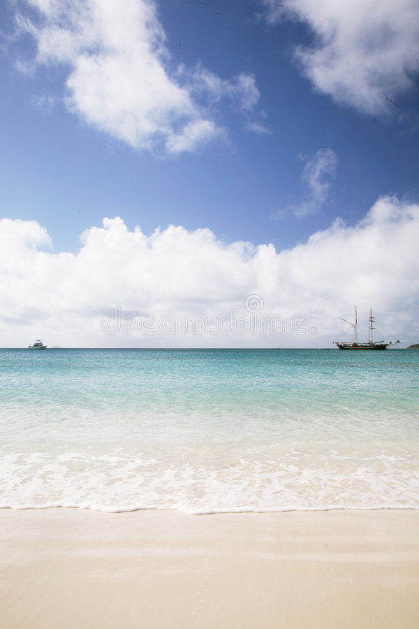 Het strandlandschap van Whitehaven stock afbeeldingen