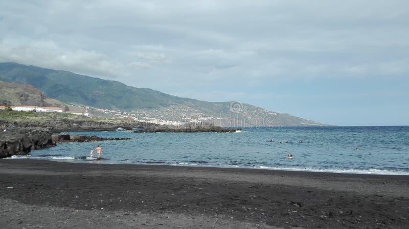 Het strandmening van La Palma royalty-vrije stock afbeelding